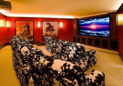 home cinéma - Mountaintop residence par VAg architects and planners - Colorado, Usa