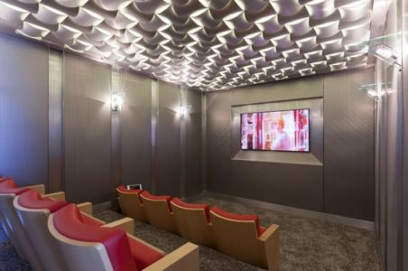 home cinema - Carmel Highlands Residence par Eric Miller Architects - Carmel-By-The-Sea, Usa