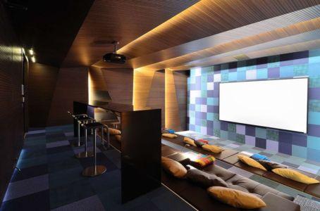 home cinema - JRB House par Reims Arquitectura - Santa Domingo, Mexique