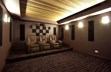 home cinema - Treetops Residence par Artas Architects & D Pearce Constructions - Toowong, Australie