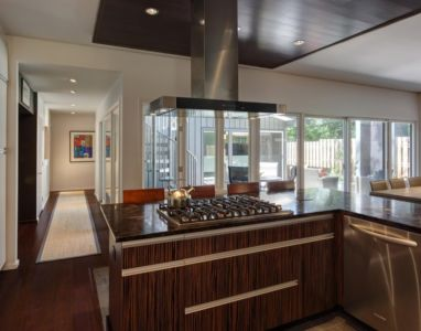 hotte cuisine - Midvale Courtyard House par Bruns Architecture - Madison, Usa