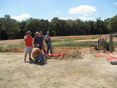 installation de la géothermie - Farmstead of the future - Universite de Georgie - Usa