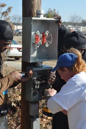 installation du tableau électrique - Farmstead of the future - Universite de Georgie - Usa