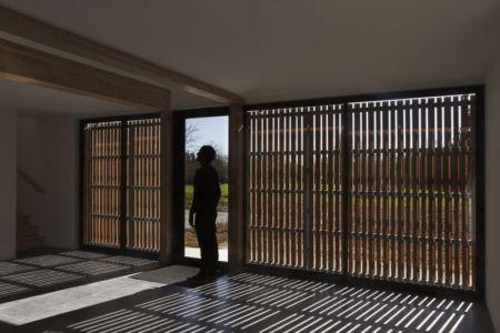 intérieur - Maison ossature bois par Atelier 56S - France - Photo Jeremías Gonzalez