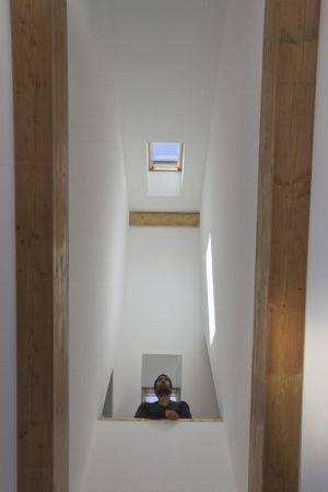intérieur escalier - Maison ossature bois par Atelier 56S - France - Photo Jeremías Gonzalez
