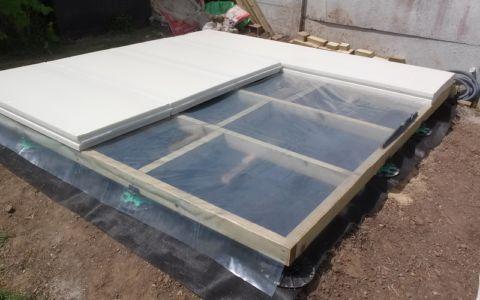 isolant plancher - bureau jardin bioclimatique