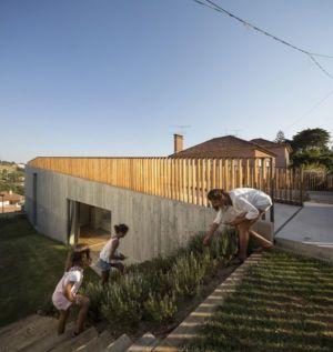 jardin entrée - house-caxias par António Costa Lima Arquitectos - Caxias, Portugal