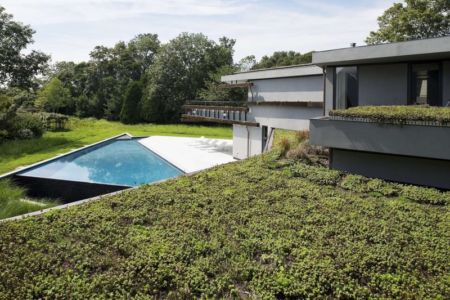 jardin et piscine - Sayres House and Hanging Gardens par Maziar Behrooz Architecture - East Hampton, Usa