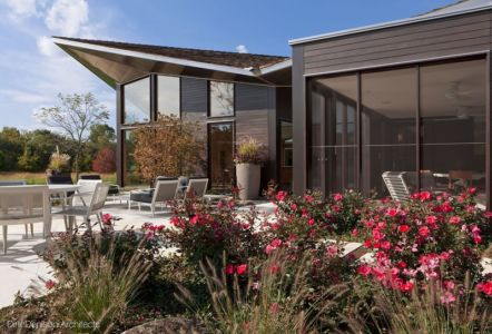 jardin et terrasse - Illinois residence par Dirk Denison architects - Usa