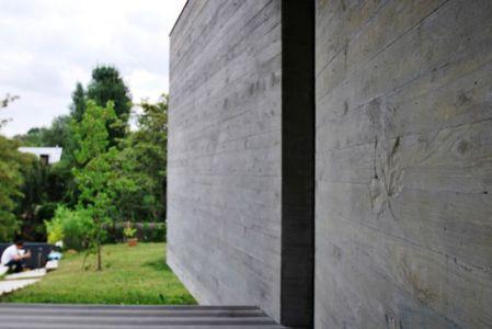 jardin & façade entrée - maison exclusive par SKP Architecture - Créteil, France