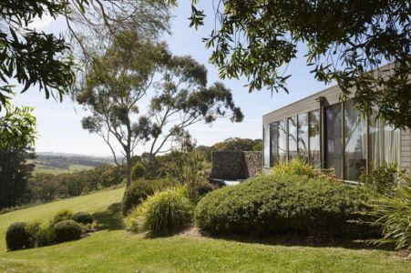 jardin & pelouse - maison contemporaine en bois par B.E ARCHITECTURE, Flinders, Australie