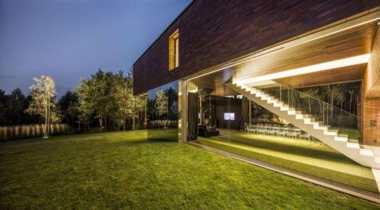 jardin & vue escalier intérieur - maison exclusive par KWK Promes - Katowice, Pologne