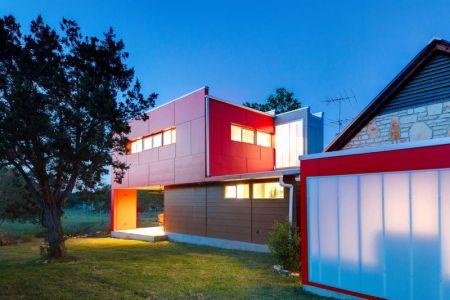 Jardin & Ouvertures Vitrées Illuminées - Sleeping-House Par A-Gruppo Architects - San Marcos, USA