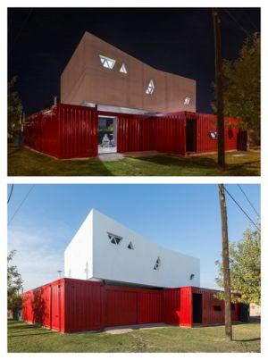 façade jour & nuit - Container House par Schreibe Architect - Cordoba, Argentine.jpg