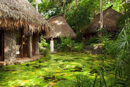 lac artificiel - Laucana Island - Suva, îles Fidji