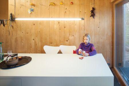 lambris pièce de vie - Witzmann résidence par Karawitz Architecture - France -  Photo Nicholas Calcott
