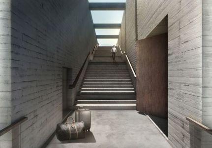 large escalier - Casa Brutale par OPA_Open Plateform - Grèce