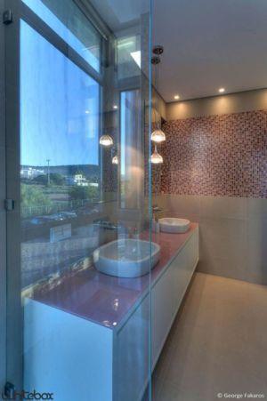 lavabos salle de bains - Stone House par Whitebox Architects - Athènes, Grèce