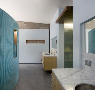 lavabo & armoire salle de bains - Mountain-Residence par Chen Suchart Studio - Arizona, USA