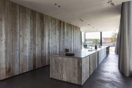 îlot central de cuisine - Graafjansdijk-House par Govaert & Vanhoutte Architects - Belgique