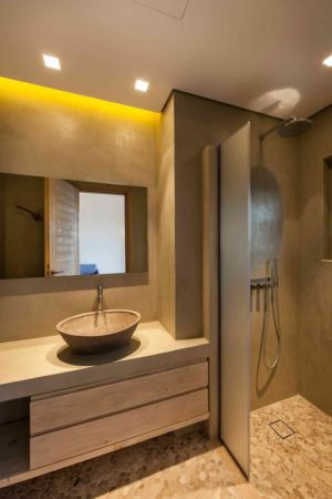lavabo salle de bains - House in South Peloponese par Gem Architects - Grèce