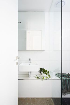 lavabo salle de bains - Hunter Street Home par ODR Architects - Australie