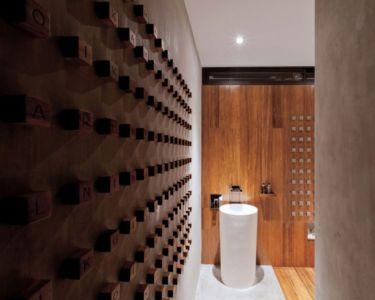 lavabo salle de bains - KA-House par IDIN Architects - Pak Chong, Thaïlande