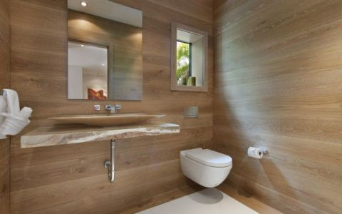 lavabo salle de bains - Miami Beach Home par Luis Bosch - Miami Beach, USA