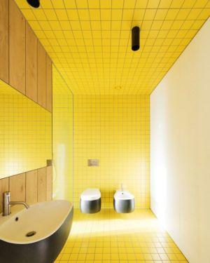 lavabo salle de bains - Structure-Slope par Bergmeister Wolf Architekten - Bozen, Italie
