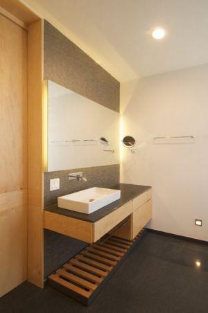 lavabo salle de bains - V-House par Agraz Arquitectos - Puerta Plata, Mexique