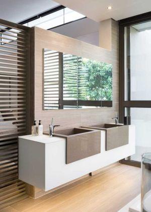 lavabos - House Sar par Nico van der Meulen Architects - Johannesbourg, Afrique du Sud