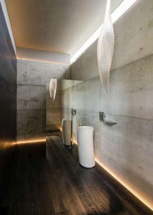 lavabos design salle de bains - JRB House par Reims Arquitectura - Santa Domingo, Mexique