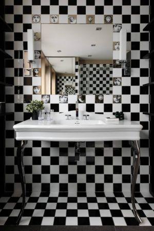 lavabos rétro - Luxury Chalet par Jean-Marc et Anne-Sophie Mouchet - Courchevel, France