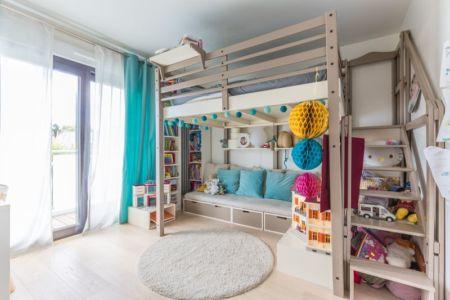 chambre enfant 1 - maison ossature bois par Groupe Futura - France