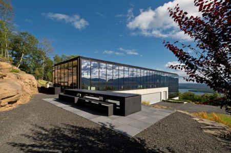 terrasse entrée - Shokan-House par Jay Bargmann - New York, USA