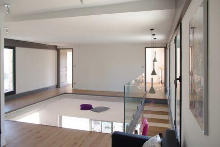 mezzanine - Maison l'Estelle par François Primault architecte - Moirax, France