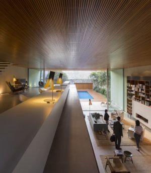 mezzanine et vue plongeante - Tetris House par Studio mk27 - São Paulo, Brésil