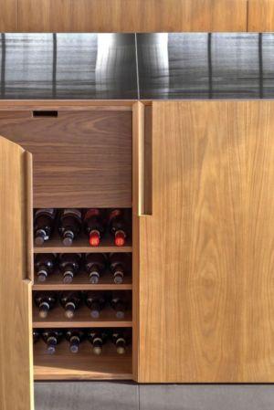 mini cave à vins - Shokan-House par Jay Bargmann - New York, USA