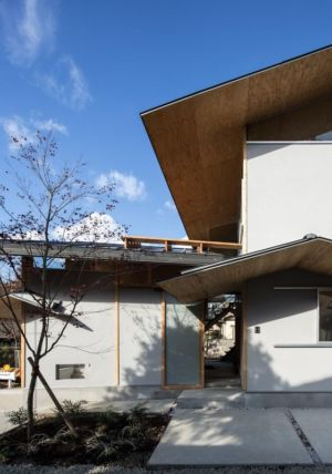 mini jardin - Eaves-House par Y Plus M Design - Kyoto, Japon
