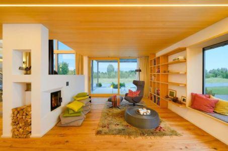 salon & cheminée design - alpine-residence par Bau-Fritz - Munich, Allemagne