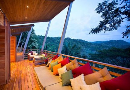 balcon et panorama - Holiday House par Benjamin Garcia Saxe - Costa Rica