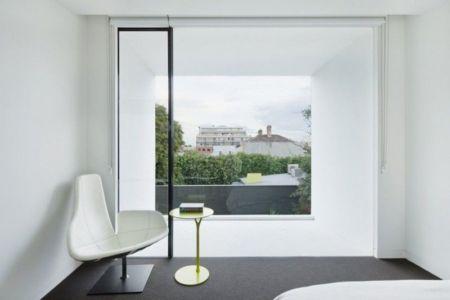 mobilier design chambre - white cube par Matt Gibson Architecture - Melbourne, Australie