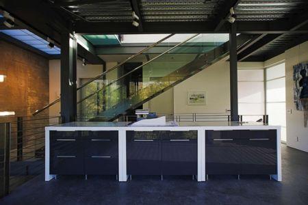 mobilier mezzanine - Anthrazit House par Architects Magnus - Santa Barbara, Usa