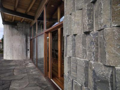 mur en pierres - Bakkaflöt 14 par Studio Granda - Islande