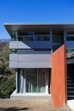 mur entrée - Anthrazit House par Architects Magnus - Santa Barbara, Usa