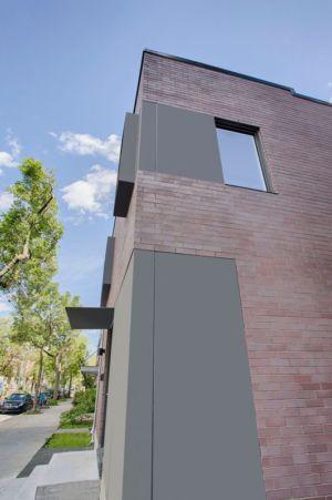 mur façade - Résidence Waverly par MU Architecture - Montréal, Canada