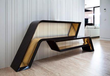 étagère déco design entrée salon - SV-House par A-Cero - Seville, Espagne