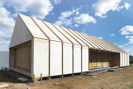 ossature bois montée - La Casa de Libre Mantenimiento par Arkitema Architects  - Danemark