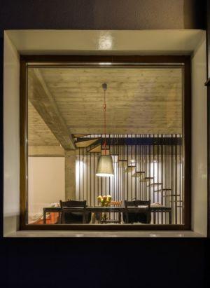 ouverture vitrée & vue salle séjour - LAMA-House par LAMA Arhitectura - Bucarest, Roumanie
