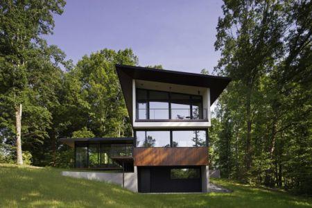 ouvertures baies vitrées - Clark Court par In Situ studio - Raleigh, USA